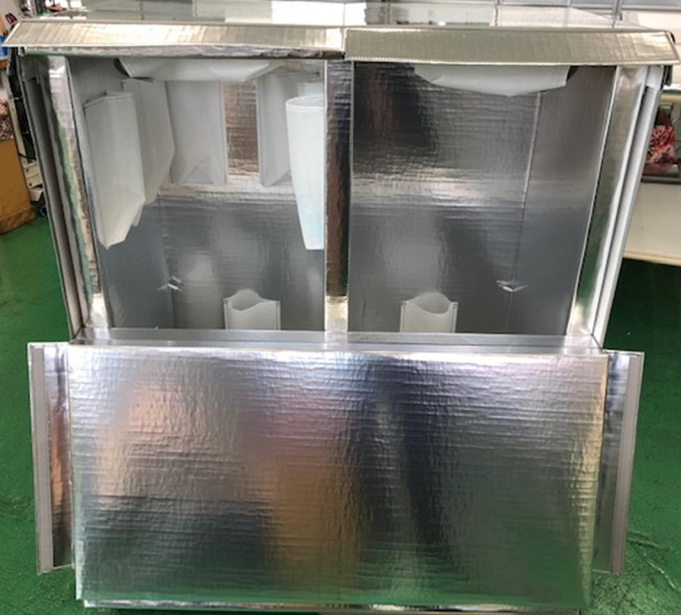 一つの箱に冷蔵と冷凍を実現した保冷箱の製作事例